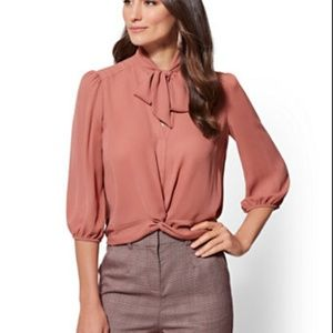 Bow Accent Blouse